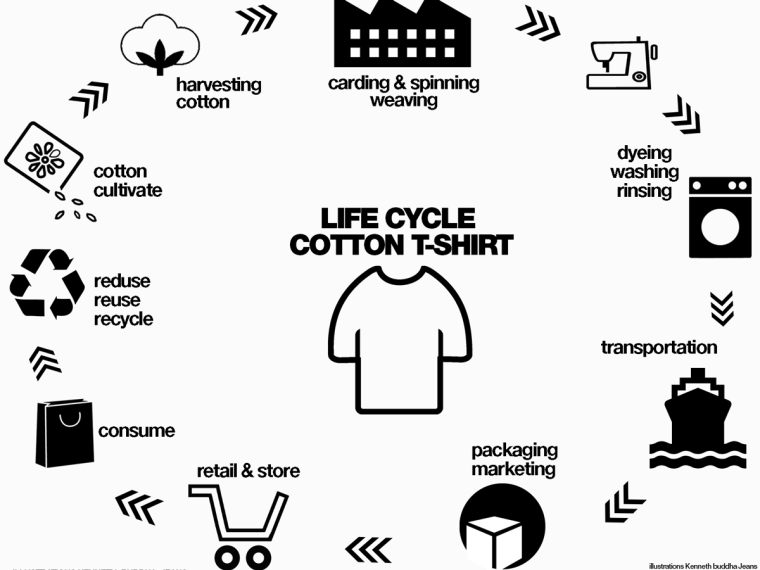 the life cycle of a t shirt